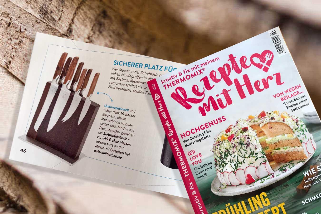 Unser Messerblock im Magazin Rezepte mit Herz