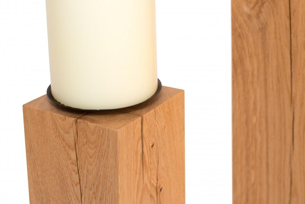 gro er holz kerzenst nder klotzaufklotz exzellente holzprodukte. Black Bedroom Furniture Sets. Home Design Ideas