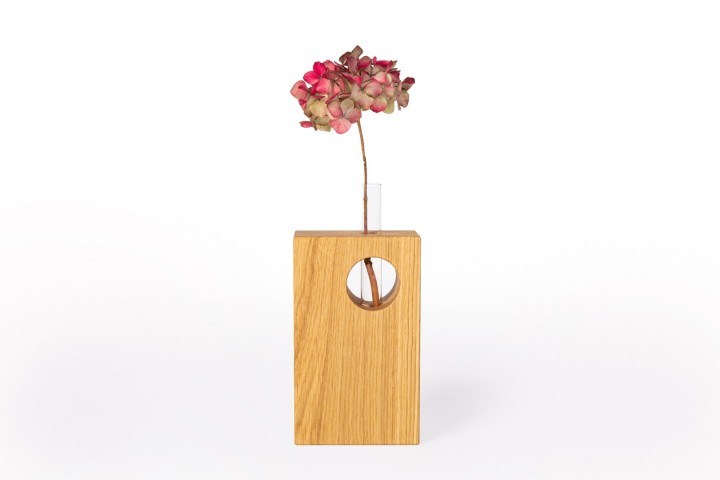 Blumenvase Eiche