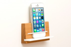 Wandhalterung iPhone Eiche