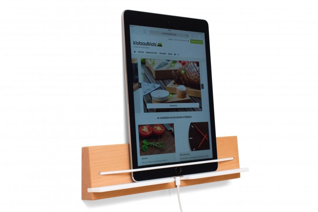 Tablet wandhalter klotzaufklotz exzellente holzprodukte - Wandhalterung fur tablet ...