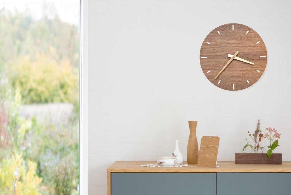 große Wanduhr | klotzaufklotz - Exzellente Holzprodukte