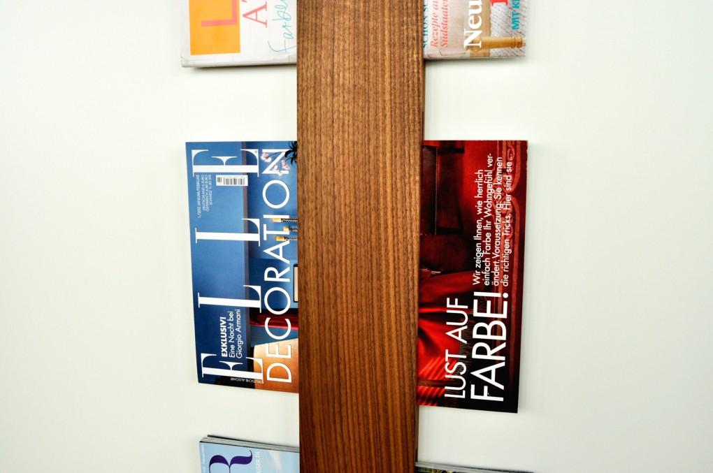 Zeitschriftenhalterung Nussbaum