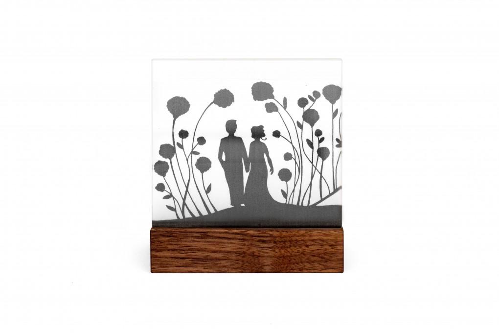 Hochzeitskerze Mini Schattenriss