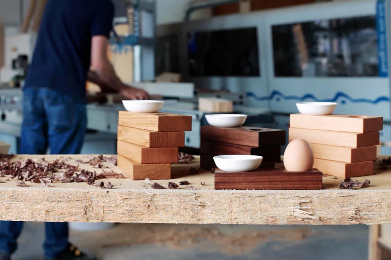 Unsere Eierbecher in der Produktion