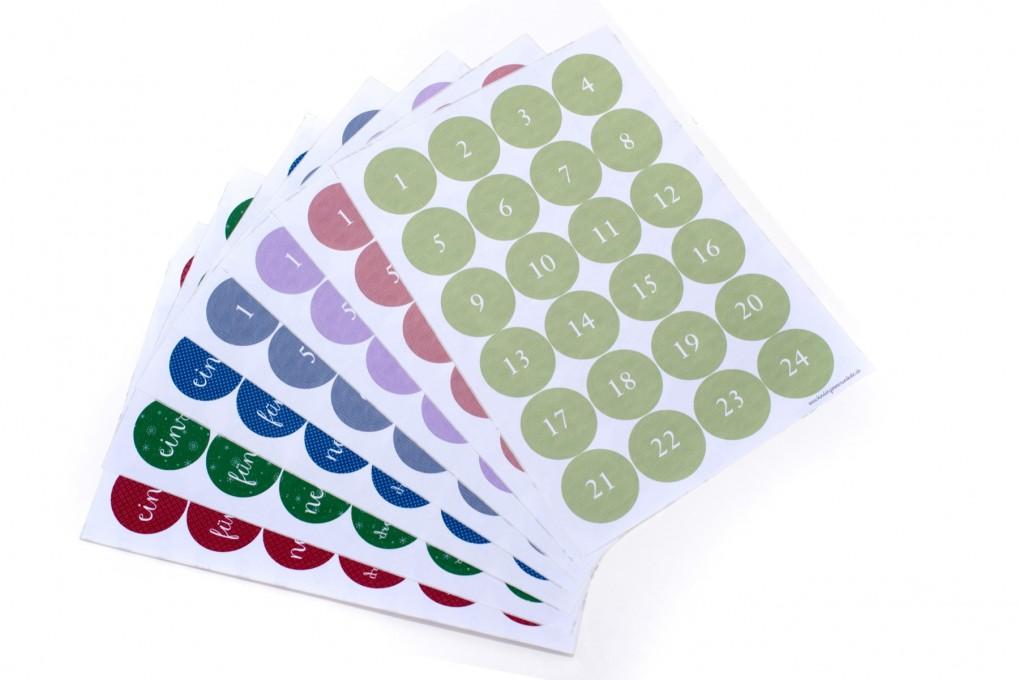 Sticker für Adventskalender
