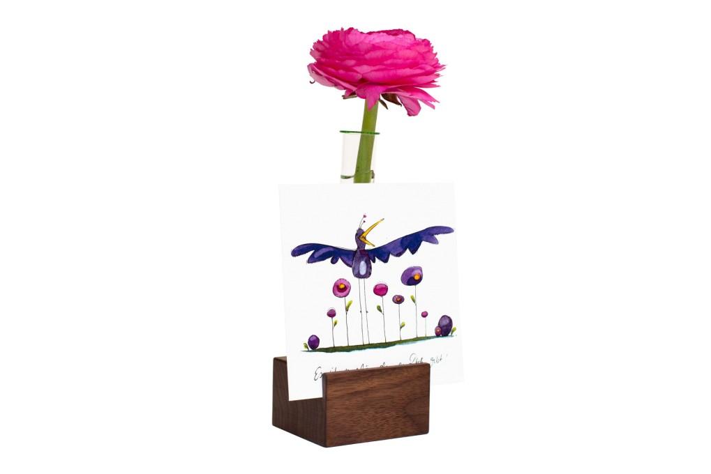 Tischkartenhalter Nussbaum