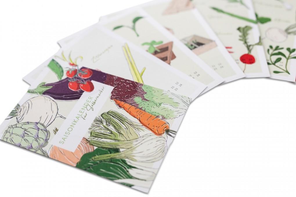Kalenderkarten Saisonkalender