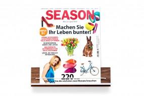 Zeitschriftenhalter Nussbaum, kurz