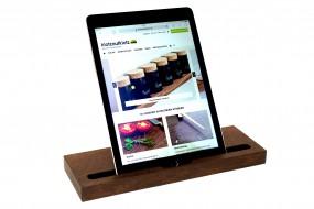 Tablet-Ständer Räuchereiche natur (kompatibel zu iPad)