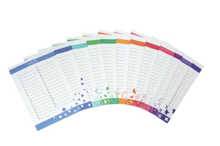 Kalenderkarten Geburtstagskalender 'Muster'