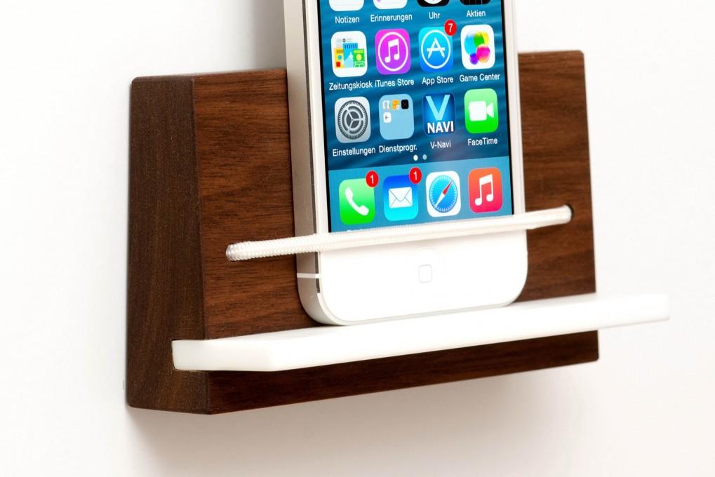 smartphone halterungen technik klotzaufklotz exzellente holzprodukte. Black Bedroom Furniture Sets. Home Design Ideas