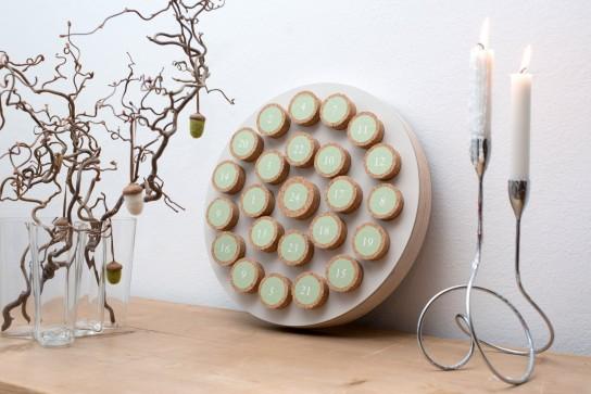 Adventskalender Korken Mushroom, rund