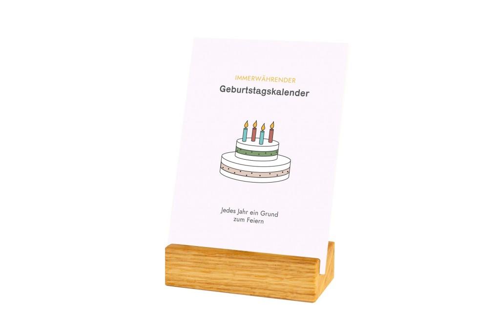 Geburtstagskalender 'Minimalist' Eiche