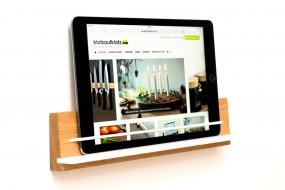 Wandhalterung iPad Eiche