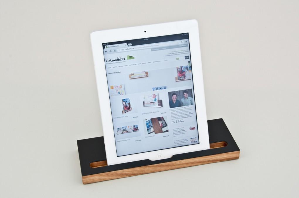 ipad halter klotzaufklotz exzellente holzprodukte. Black Bedroom Furniture Sets. Home Design Ideas