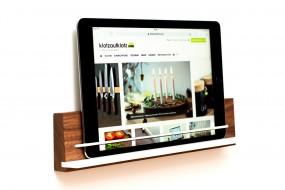 Wandhalterung iPad Nussbaum