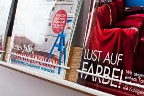 Zeitschriftenhalter Eiche, lang
