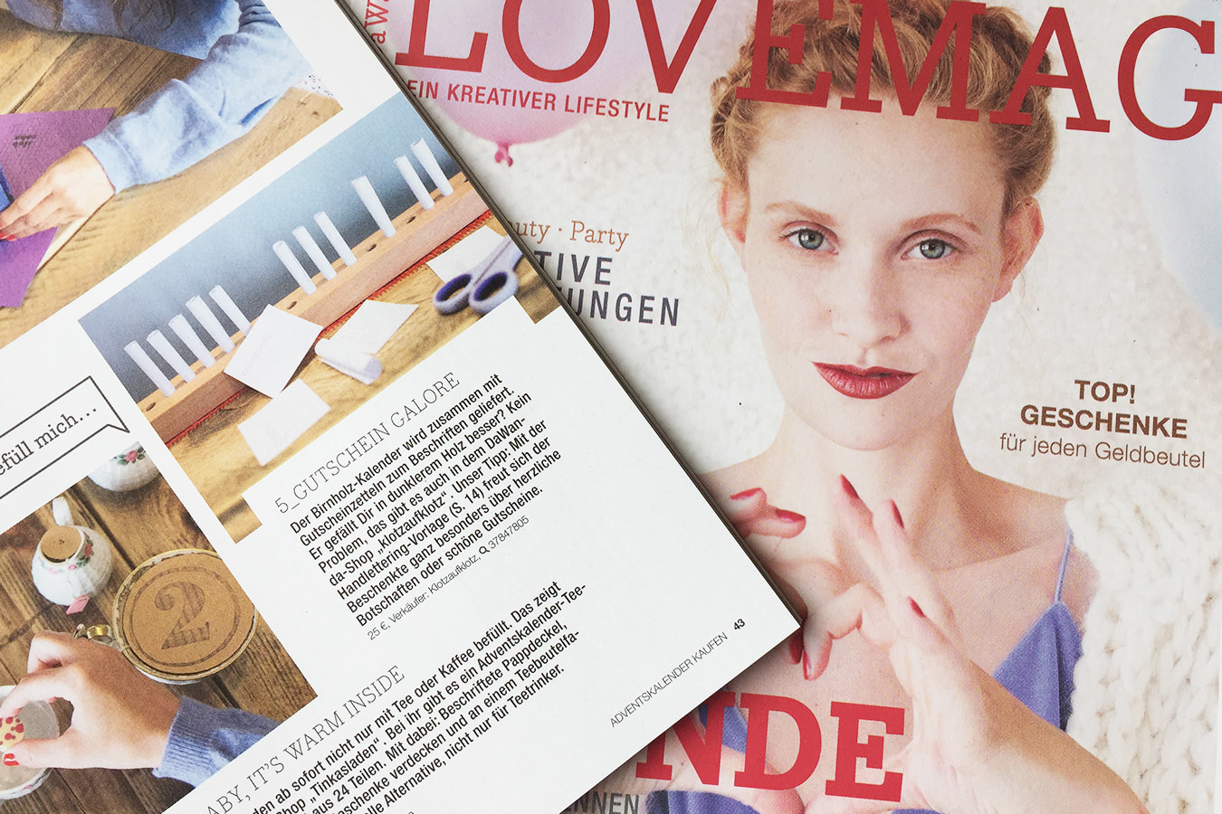 Dawanda LoveMag: Unser Adventskalender mit Gutscheinen