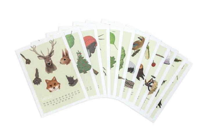 Kalenderkarten Waldkalender
