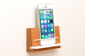 Wandhalterung iPhone Buche