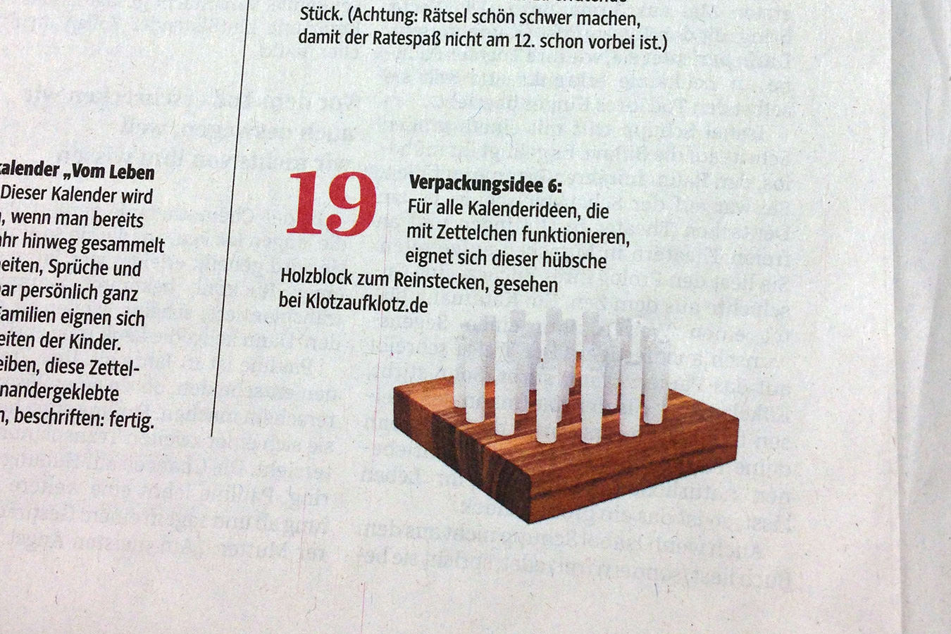 klotzaufklotz in der Süddeutschen Zeitung