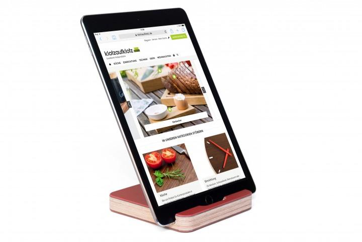 Tablet Ständer Linoleum Rot