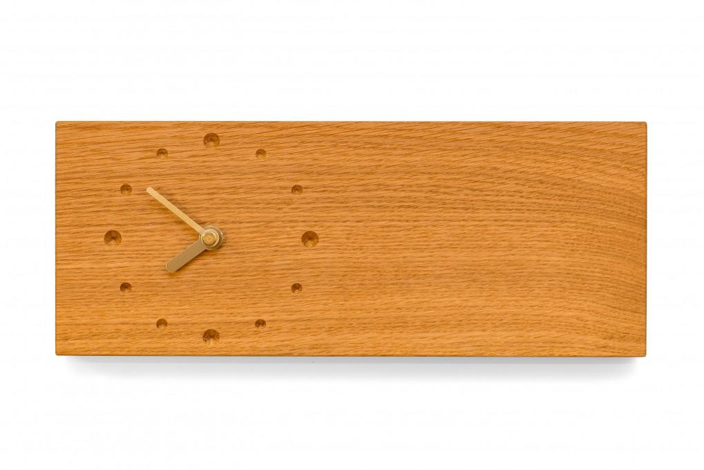 l ngliche wanduhr eiche klotzaufklotz exzellente holzprodukte. Black Bedroom Furniture Sets. Home Design Ideas