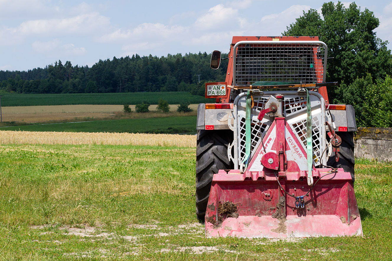 Traktor für den Waldeinsatz
