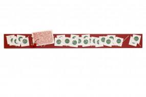 Adventskalender Schnüre Rot, klein