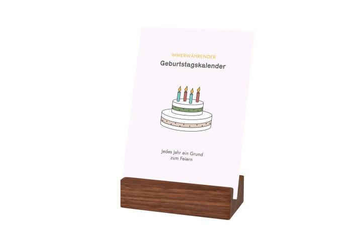 Geburtstagskalender 'Minimalist' Nussbaum