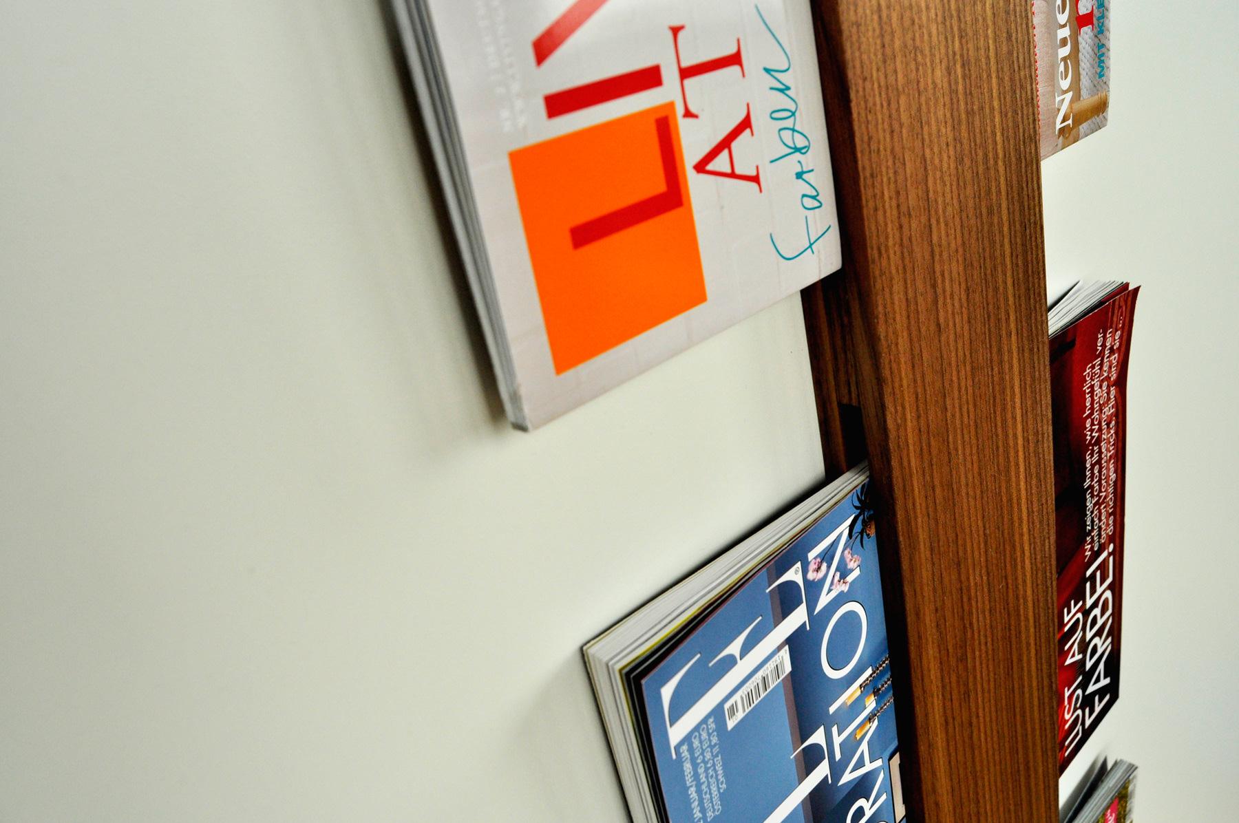 Aufbewahrung für Zeitschriften