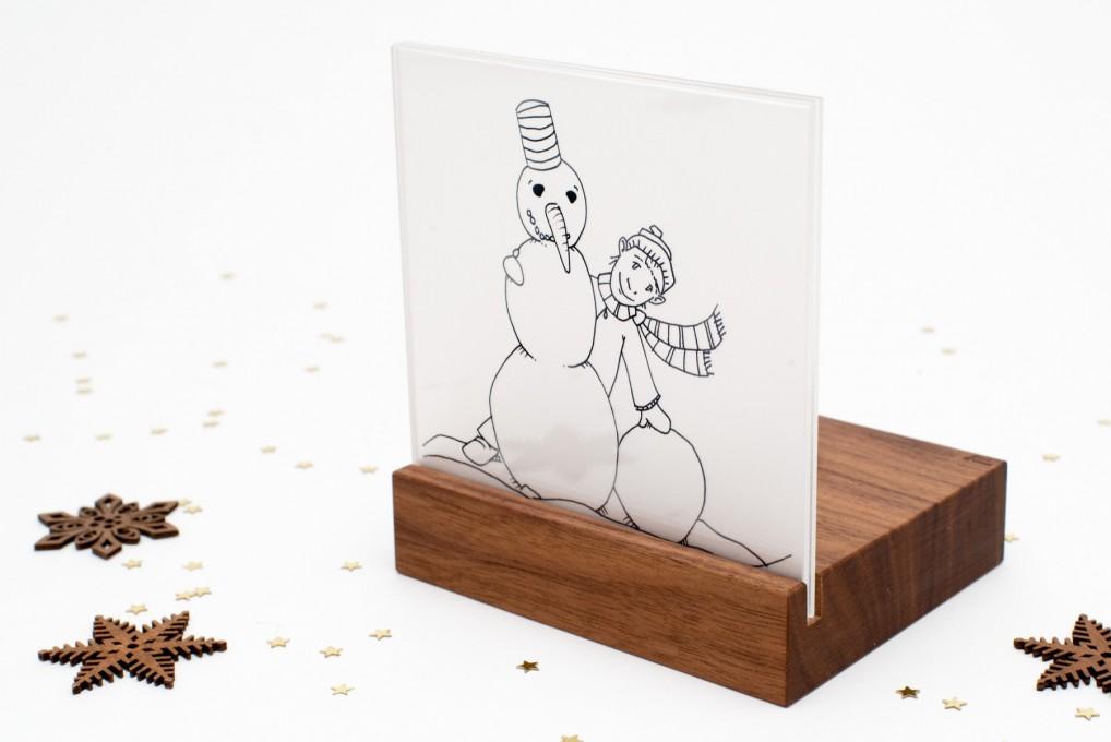 Weihnachtskrippe Mini Schneemann