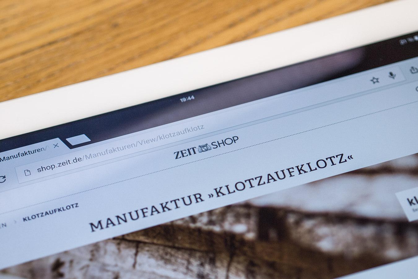 Unsere Produkte im Zeit Onlineshop und neues Holz
