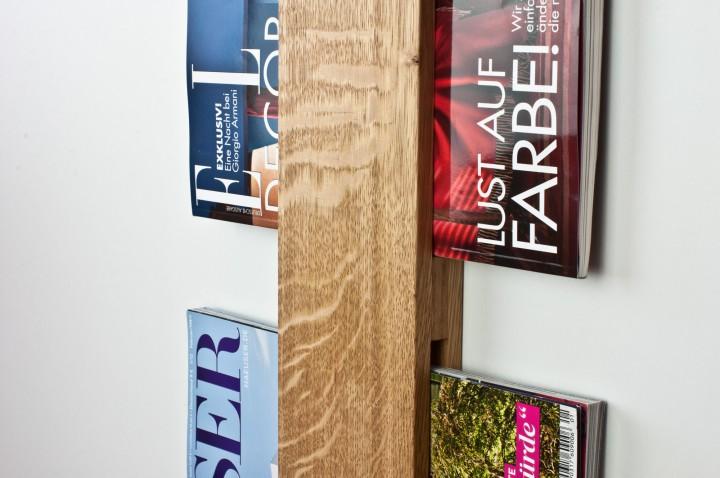 Zeitschriftenhalterung Eiche